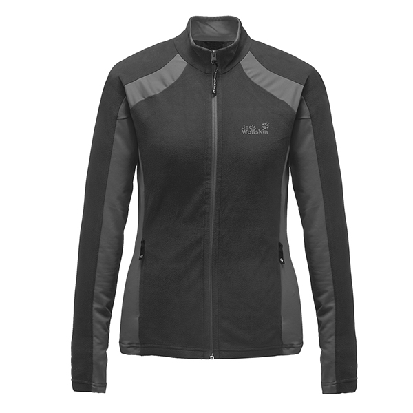 JACK WOLFSKIN WOMEN DYNAMIC FULL ZIP BLACK