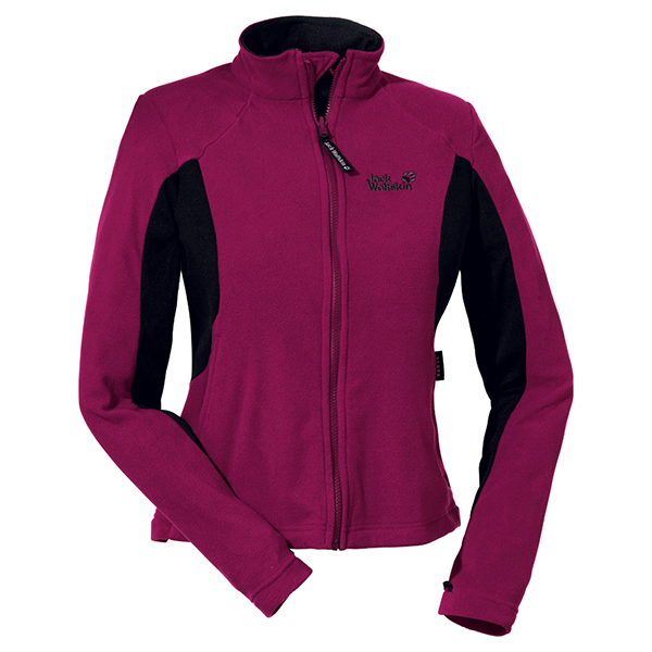 JACK WOLFSKIN WOMEN ENDURANCE FULL ZIP GRAPE RED