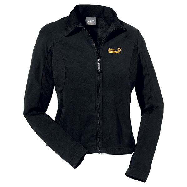 JACK WOLFSKIN WOMEN ENDURANCE FULL ZIP BLACK