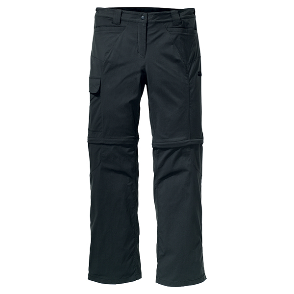 JACK WOLFSKIN WOMEN ACTIVATE ZIP OFF PANTS SHADOW BLACK