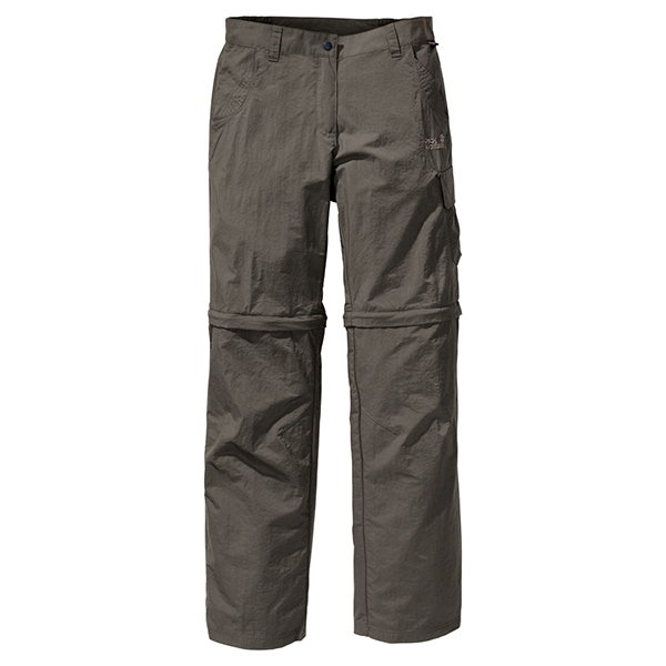 JACK WOLFSKIN WOMEN DESERT ZIP OFF PANTS BASALT