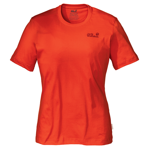 JACK WOLFSKIN WOMEN BASIC T SPICY ORANGE