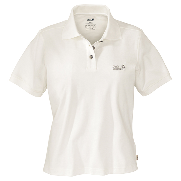 JACK WOLFSKIN WOMEN POLO SHIRT ALABASTER