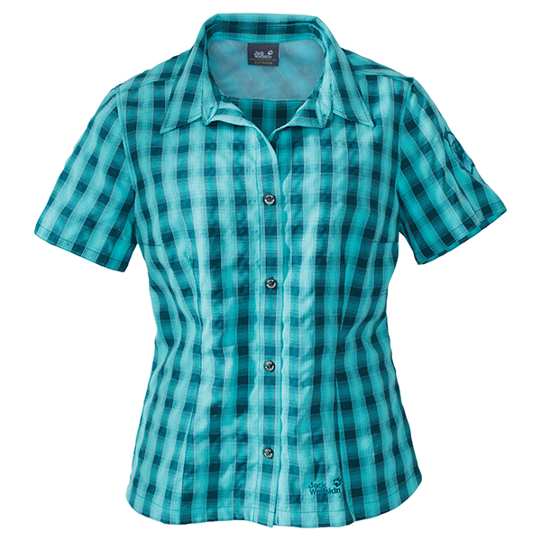 JACK WOLFSKIN WOMEN ATHENA BLUE PACIFIC CHECKS