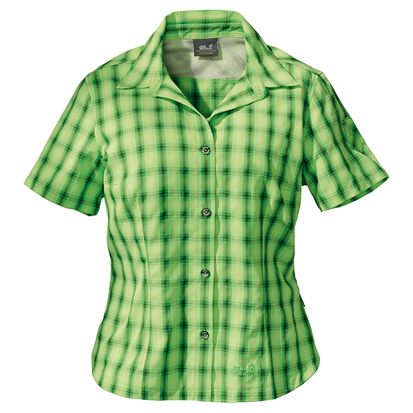 JACK WOLFSKIN WOMEN ATHENA LEAF GREEN CHECKS