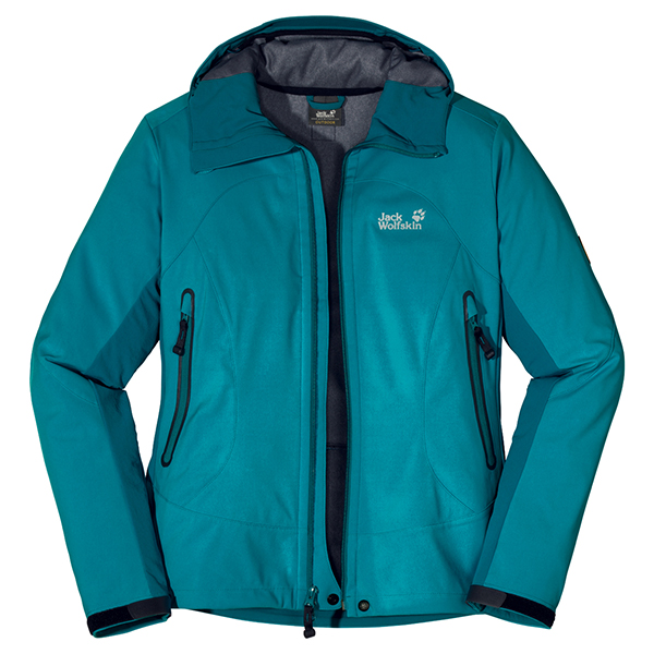 JACK WOLFSKIN WOMEN SUMMITEER JACKET GLACIER BLUE