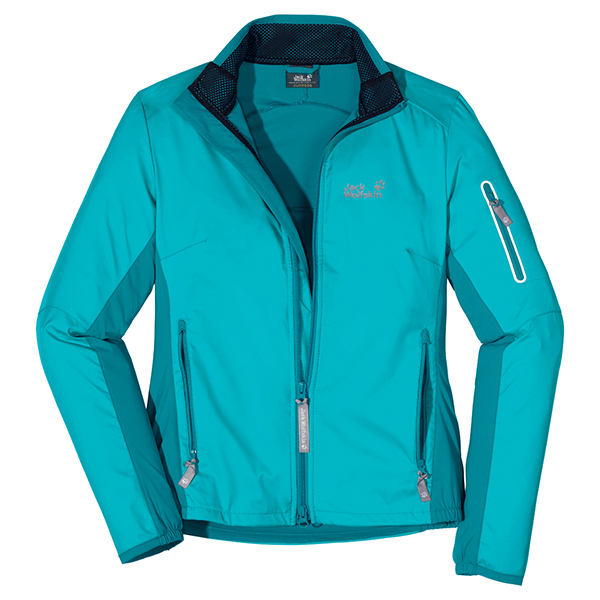 JACK WOLFSKIN WOMEN ELECTRON SOFTSHELL LAKE BLUE
