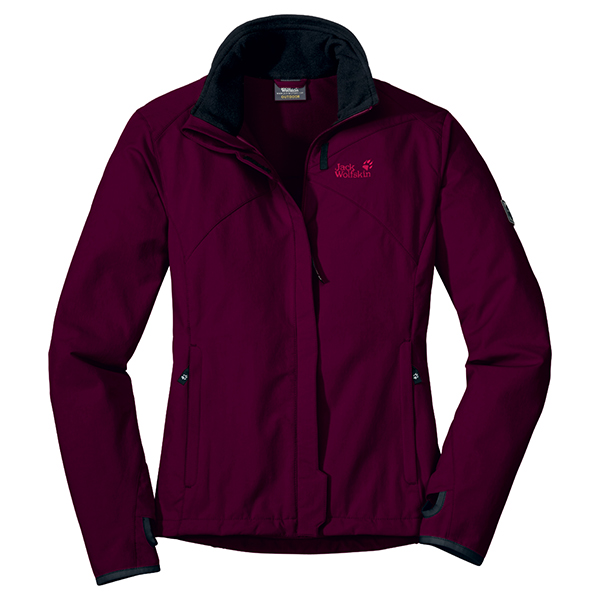 JACK WOLFSKIN WOMEN ACTIVATE JACKET DARK BERRY