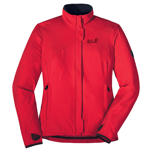 JACK WOLFSKIN WOMEN ACTIVATE JACKET PEAK RED