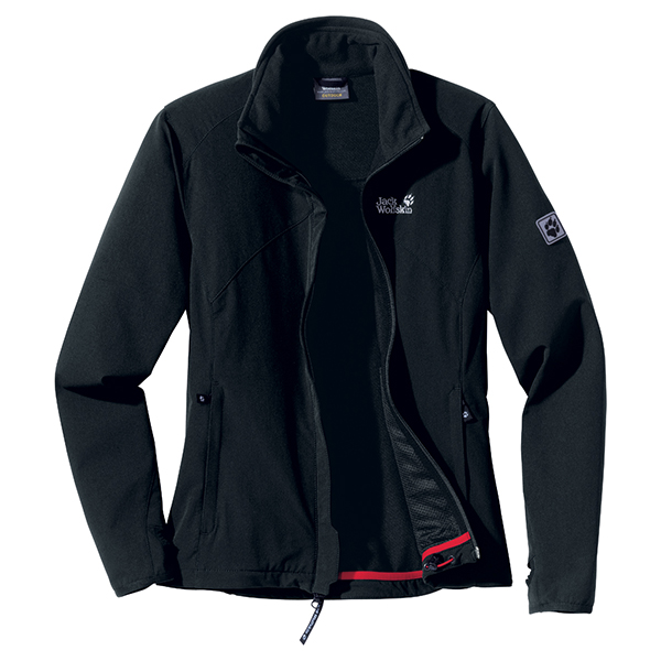 JACK WOLFSKIN WOMEN ACTIVATE JACKET BLACK