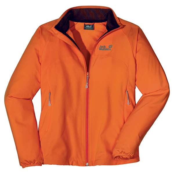 JACK WOLFSKIN WOMEN ATMOSPHERE SOFTSHELL DARK ORANGE