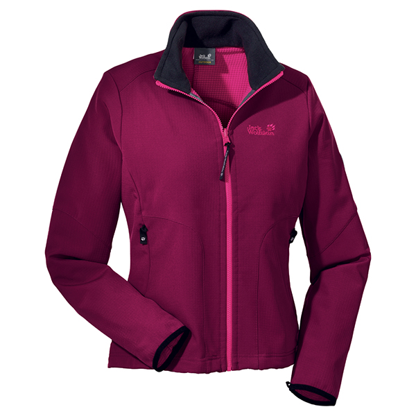 JACK WOLFSKIN WOMEN HYPERSCOPE JACKET GRAPE RED