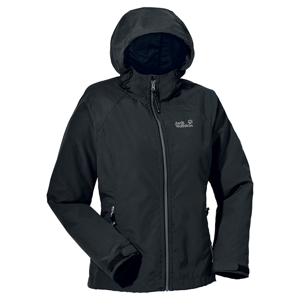 JACK WOLFSKIN WOMEN WINDY POINT SHADOW BLACK