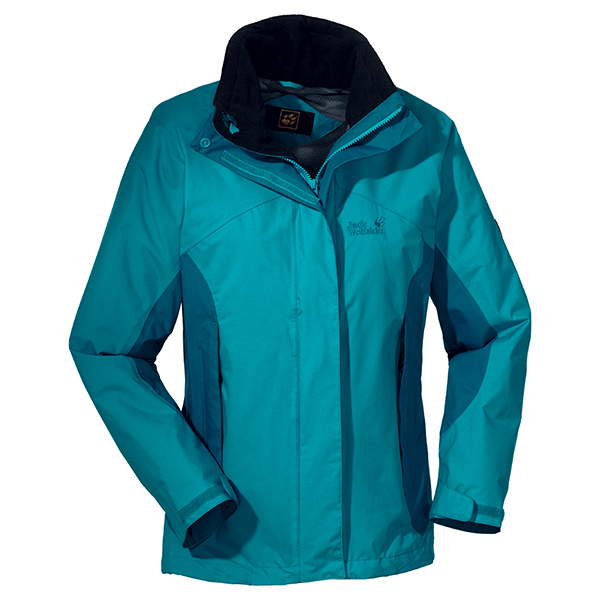 JACK WOLFSKIN WOMEN GREAT ESCAPE JACKET GLACIER BLUE