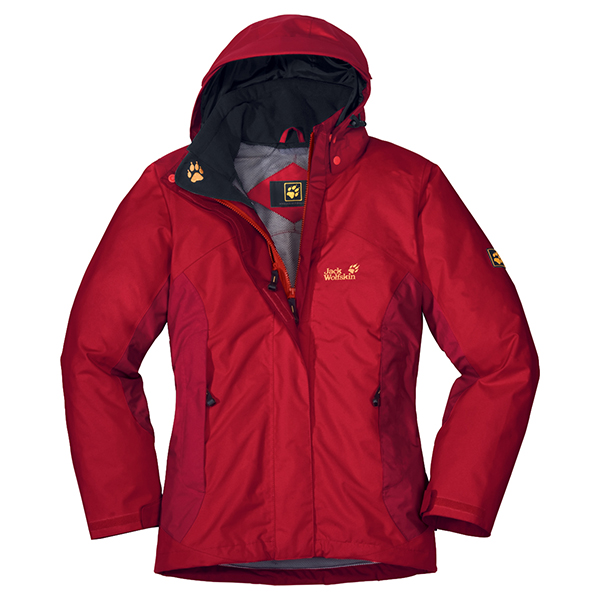 JACK WOLFSKIN WOMEN GREAT ESCAPE JACKET TANGO RED