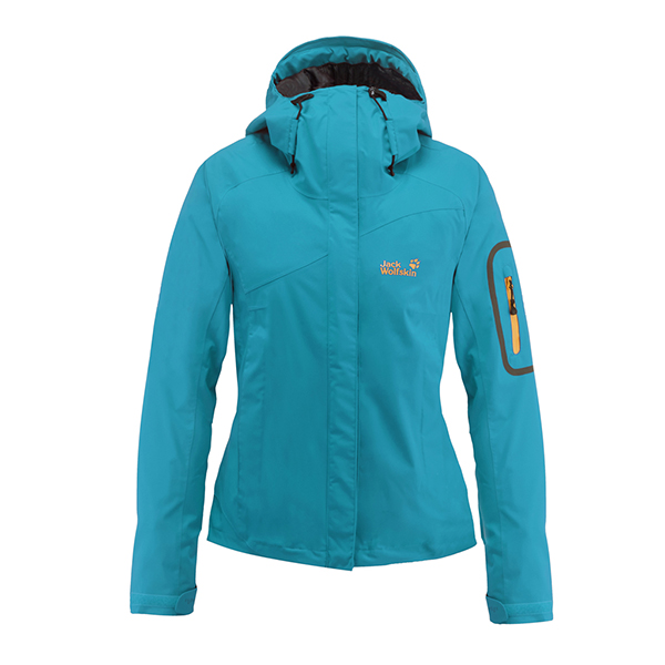 JACK WOLFSKIN WOMEN ASCENT JACKET GLACIER BLUE