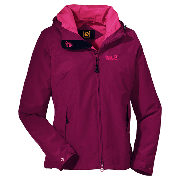 JACK WOLFSKIN WOMEN LAKEVIEW JACKET GRAPE RED