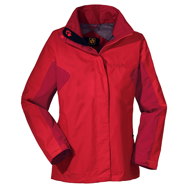 JACK WOLFSKIN WOMEN QUANTUM JACKET PEAK RED