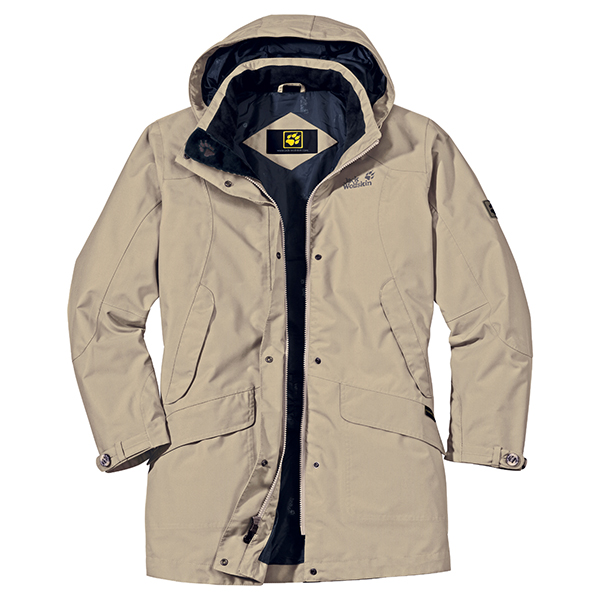JACK WOLFSKIN WOMEN QUEENS COAT PURE SANDS