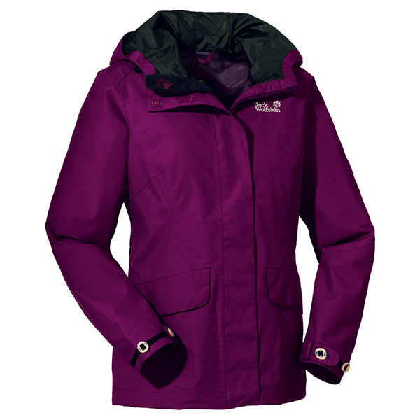 JACK WOLFSKIN WOMEN QUEENS JACKET PURPLE DAWN