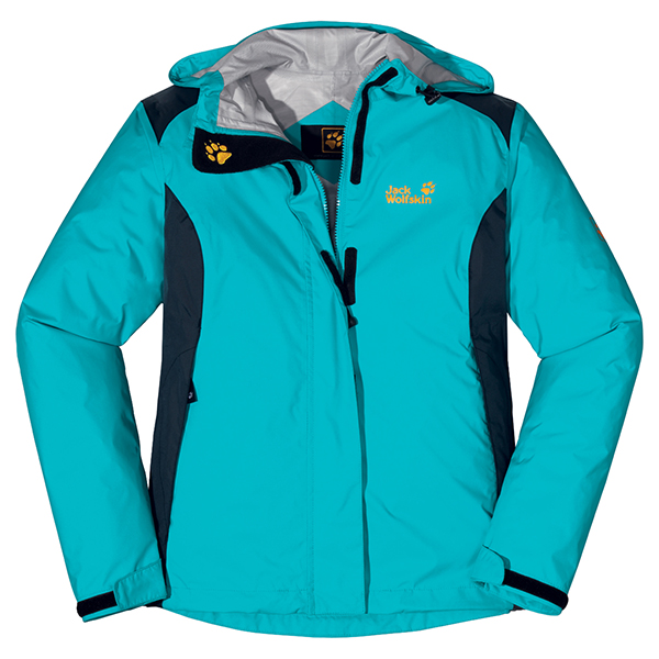 JACK WOLFSKIN WOMEN RAINTOOL LAKE BLUE