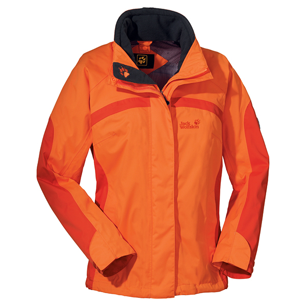 JACK WOLFSKIN WOMEN TOPAZ JACKET DARK ORANGE