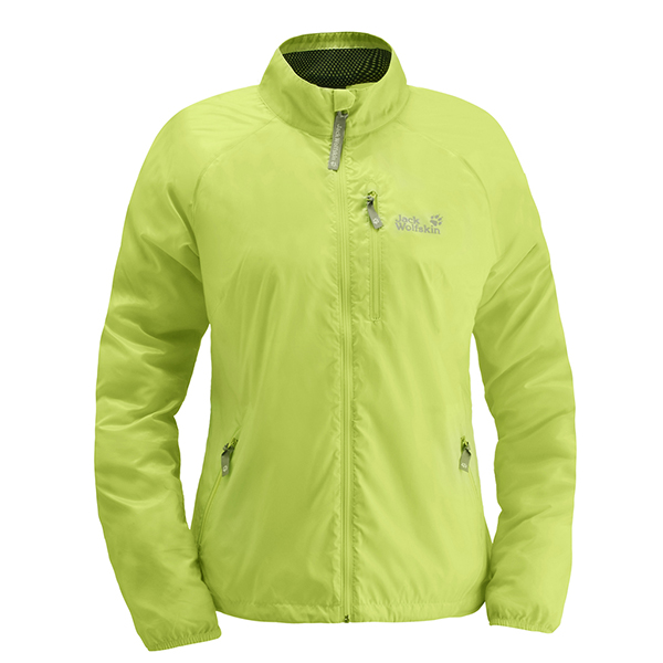 JACK WOLFSKIN WOMEN UPWIND JACKET SHARP GREEN