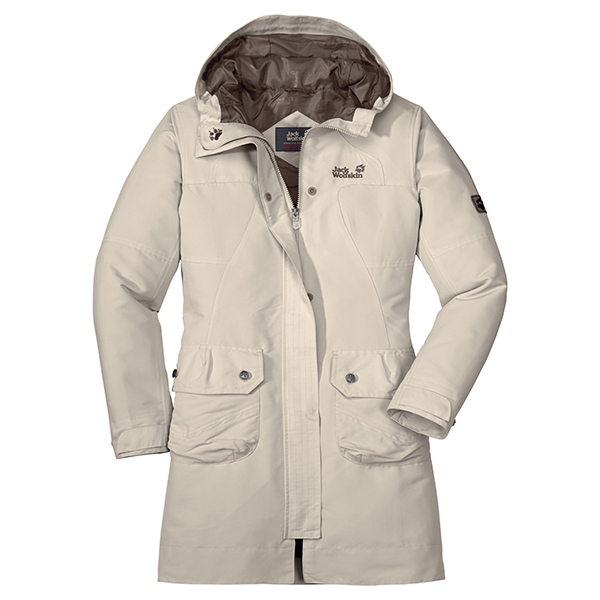JACK WOLFSKIN WOMEN MAYFAIR COAT IVORY