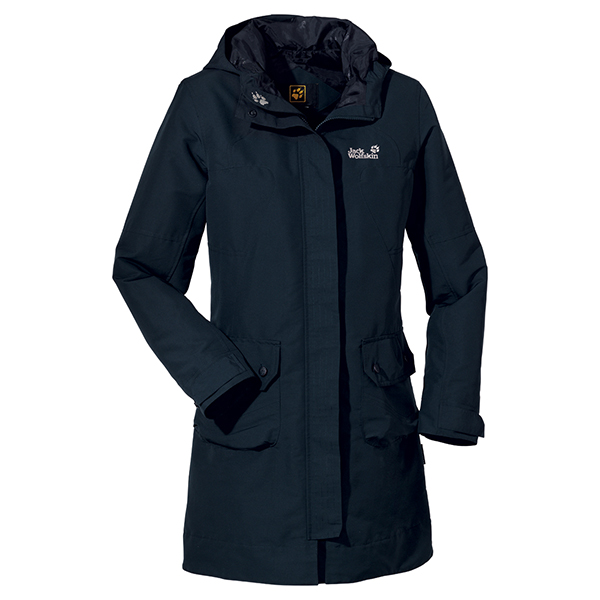 JACK WOLFSKIN WOMEN MAYFAIR COAT BLUE GRAPHITE
