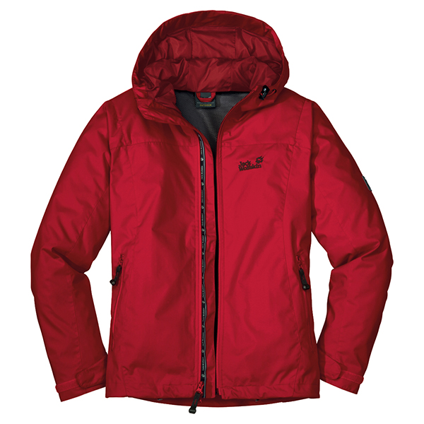 JACK WOLFSKIN WOMEN VORTEX JACKET TANGO RED