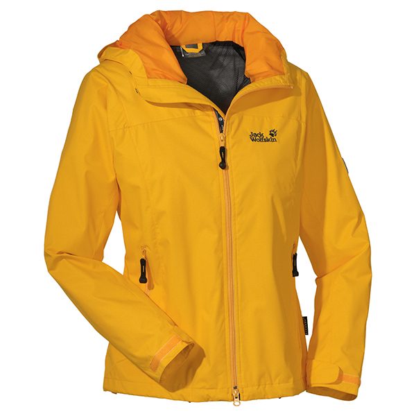 JACK WOLFSKIN WOMEN VORTEX JACKET SUNNY YELLOW