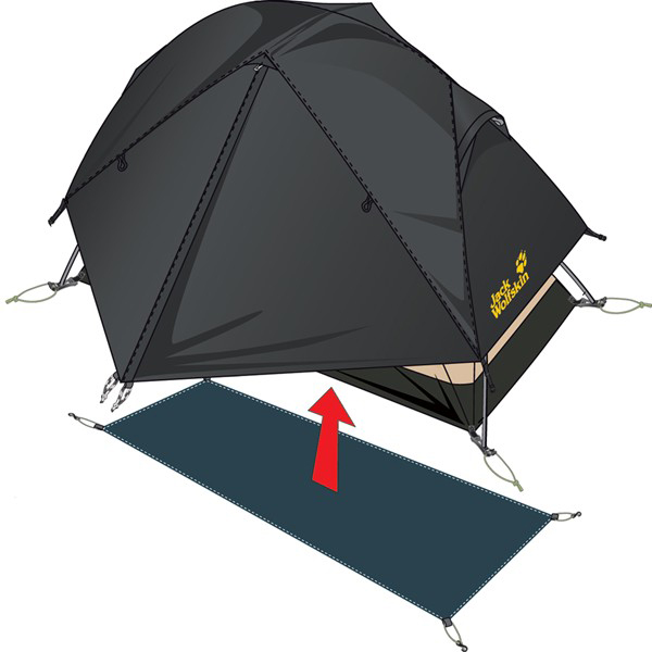 JACK WOLFSKIN FLOORSAVER ATMOSPHERE DOME II