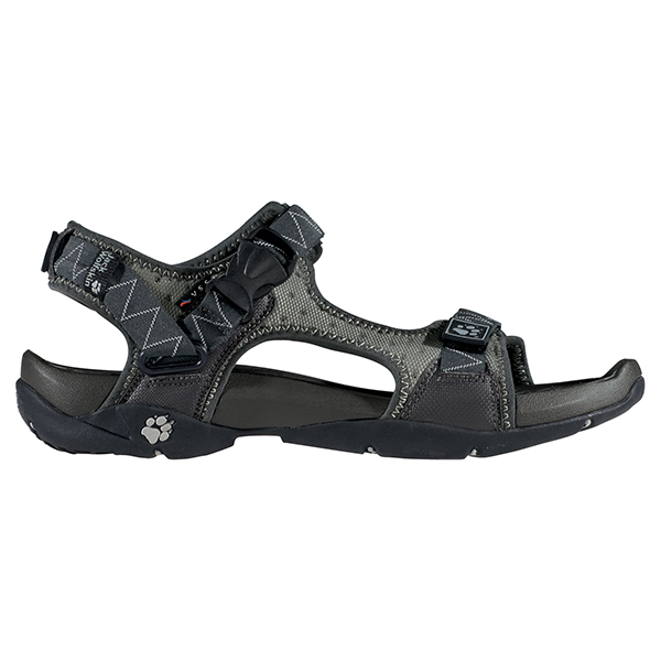 JACK WOLFSKIN MEN ASSEMBLY SANDAL SILVER GREY