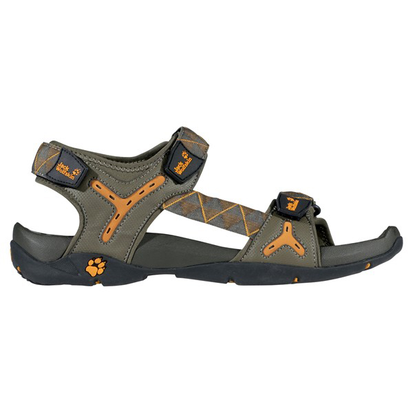 JACK WOLFSKIN MEN GREEN RIVER SANDAL GRANITE