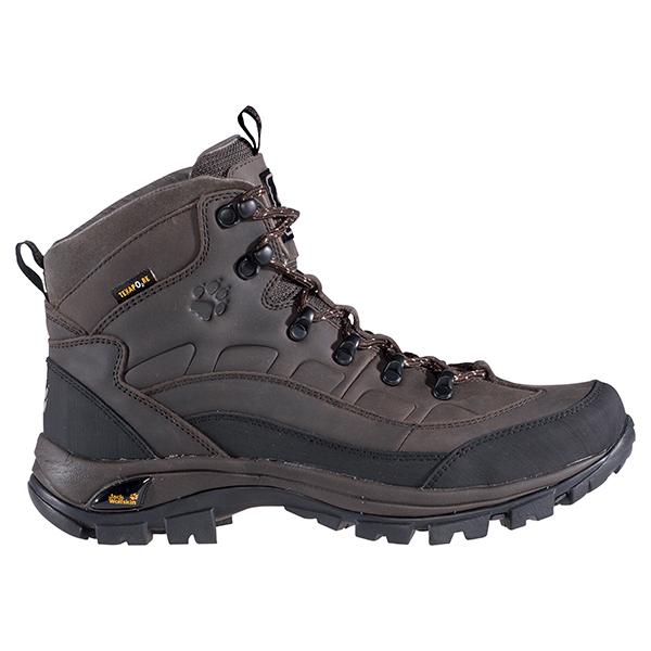 JACK WOLFSKIN MEN SOLID TRAIL TEXAPORE MOCCA