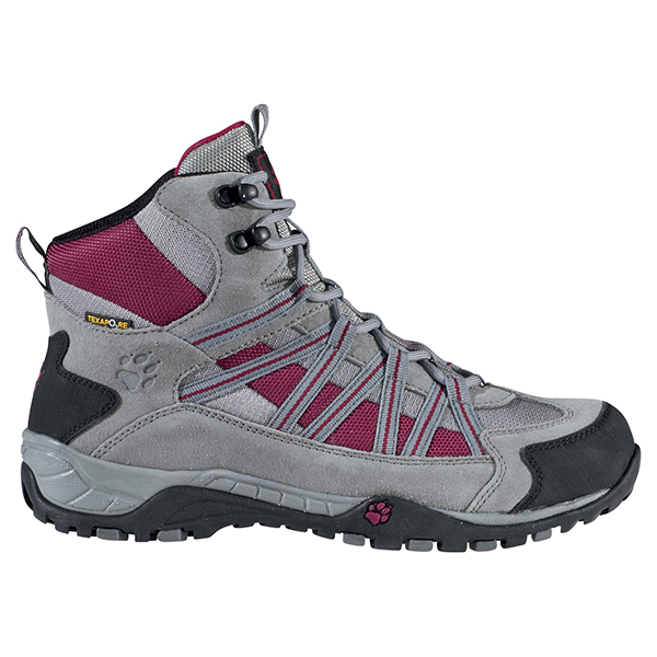 JACK WOLFSKIN WOMEN CROSSHIKE MID TEXAPORE GRAPE RED